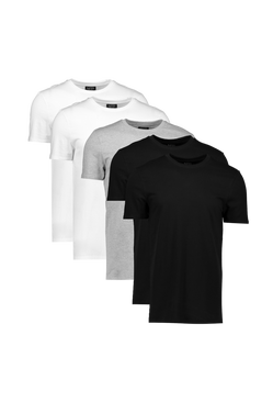 Mens Multi 5 Pack Muscle Fit T-Shirts