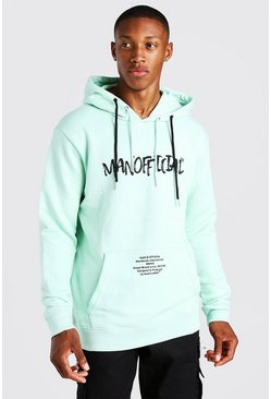 Mint MAN Official Gothic Print Hoodie