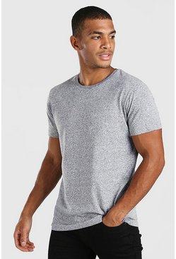 Grey marl Basic Crew Neck T-Shirt in Marl