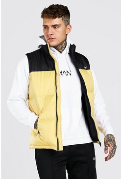 Yellow MAN Dash Colour Block Gilet