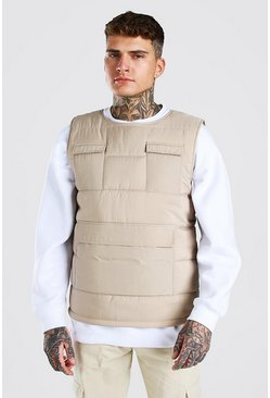 Stone MAN Branded Padded Utility Gilet