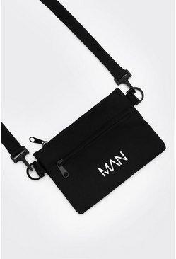 Black MAN Dash Cross Body Bag