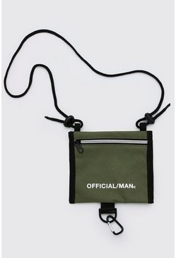 Khaki MAN Official Cross Body Pouch