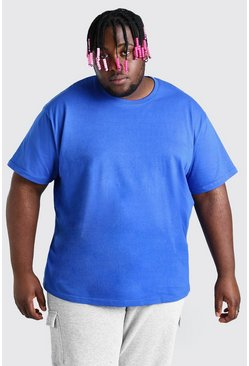 Big And Tall - T-shirt coupe ample, Cobalt