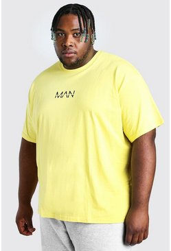 Yellow Big And Tall Loose Fit MAN Dash T-Shirt