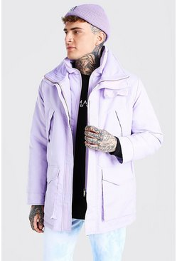 Lilac MAN Branded Funnel Neck Ski Jacket
