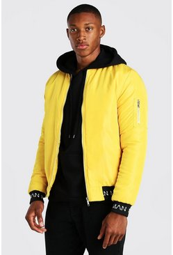 Yellow Bomber With MAN Rib