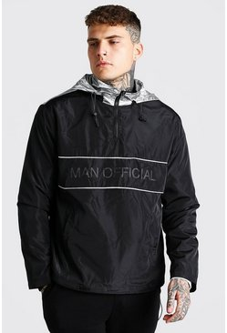 Black MAN Official Overhead Cagoule