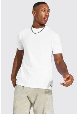 White 3 Pack MAN Script Lounge T-Shirt