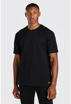 Black 3 Pack Small Man Dash Lounge T-Shirt