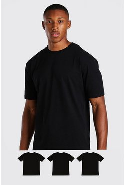 Black 3 Pack MAN Script Lounge T-Shirt