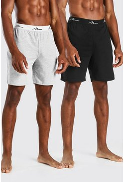 Lot de 2 shorts Loungewear inscription MAN, Multi