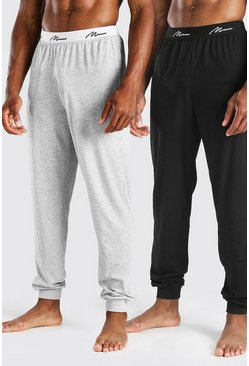 Lot de 2 joggings Loungewear inscription MAN, Multi