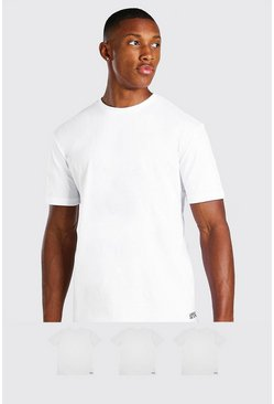 White 3 Pack MAN Dash Lounge T-Shirt