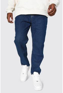 Mid blue Plus Size Slim Fit Rigid Jean