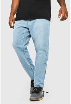 Light blue Plus Size Slim Fit Rigid Jean