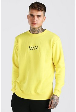 Yellow Original MAN Crew Neck Sweatshirt
