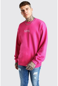 Pink Oversized Original MAN Sweatshirt