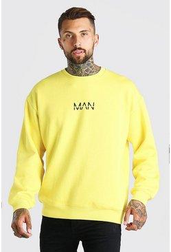 Yellow Oversized Original MAN Sweatshirt