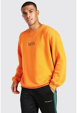 Orange Oversized Original MAN Sweatshirt