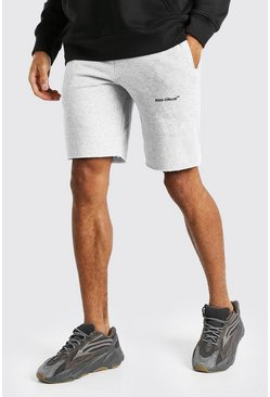 Grey marl MAN Official Mid Length Jersey Short