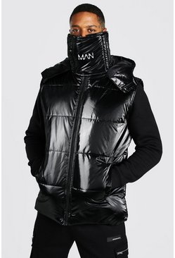 Black MAN Dash Snood Gilet