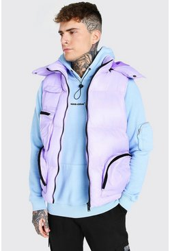 Lilac Multi Pocket Gilet