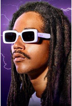 White MAN x Roberi & Fraud Square Frame Sunglasses