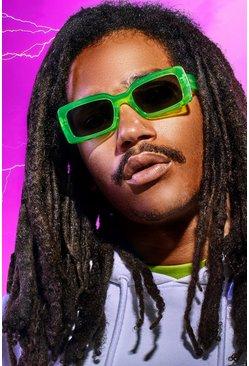 Green MAN x Roberi & Fraud Square Frame Sunglasses