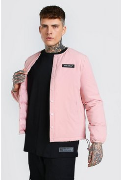 Veste Coach sans col MAN Official, Rose