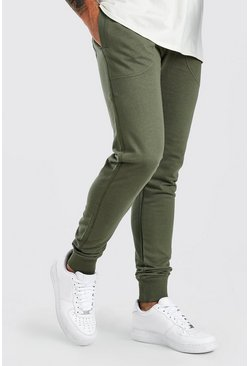 Khaki Basic Skinny Fit Jogger