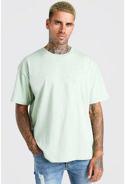 Sage Oversized Basic Crew Neck T-Shirt
