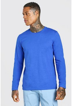 Cobalt Basic Long Sleeve Crew Neck T-Shirt