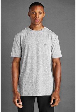 Grey marl MAN Active Marl T-Shirt