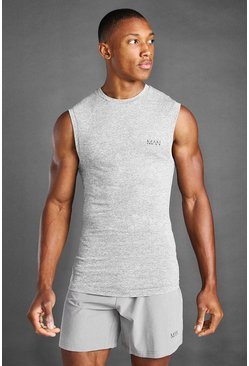 Grey marl MAN Active Marl Muscle Fit Vest