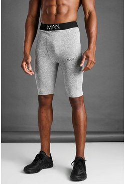 Short compression gris chiné MAN
