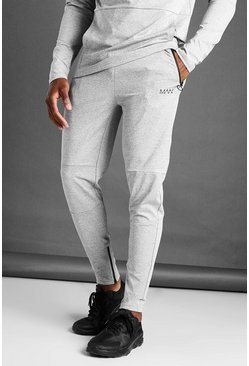Grey marl MAN Active Skinny Fit Marl Joggers