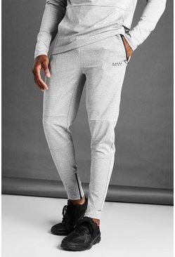 Grey marl MAN Active Skinny Fit Marl Joggers