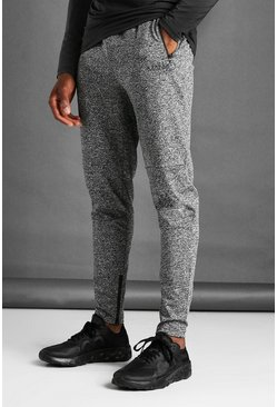 Charcoal MAN Active Skinny Fit Marl Joggers