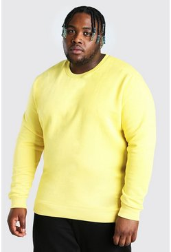 Yellow Plus Size Basic Sweater