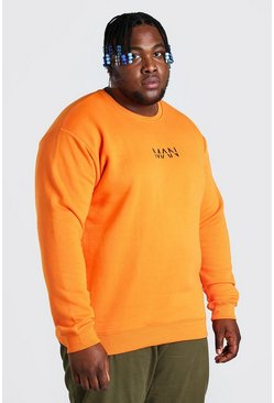 Orange Big And Tall MAN Dash Sweater
