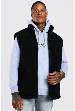 Black Borg Funnel Neck Gilet