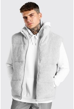 Grey Borg Funnel Neck Gilet