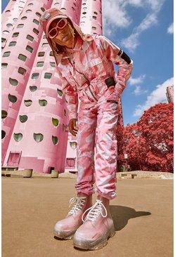 Pink Camo Print Tank Top And Jogger Set