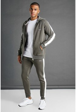 Sweat à capuche et pantalon de survêtement - MAN, Kaki