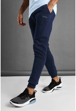 MAN Active Tapered-Fit Jogginghose, Marineblau