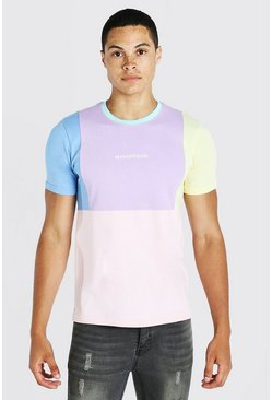 Purple Official MAN Colour Block T-Shirt