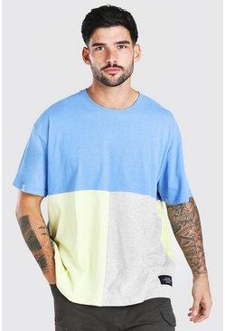 Navy Official MAN Colour Block T-Shirt