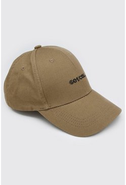 Sage silver MAN Embroidered Curve Peak Cap
