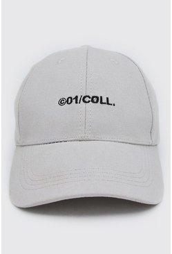 Grey MAN Embroidered Curve Peak Cap